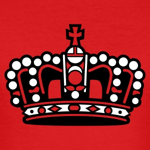 Dark orange princess krone crown king T-Shirts (Kurzarm) - Männer Slim Fit T-Shirt