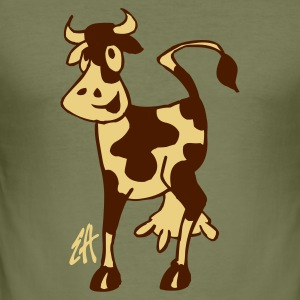 Cow - Men's Slim Fit T-Shirt