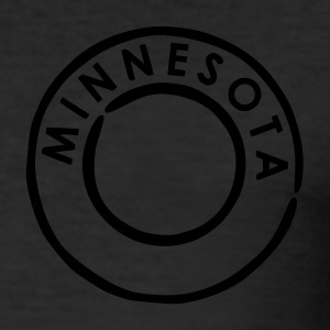Eigelb Minnesota T-Shirts - Männer Slim Fit T-Shirt