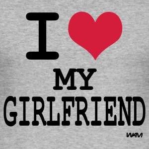 i love my girlfriend T-shirts (m. courtes) - Tee shirt près du corps Homme