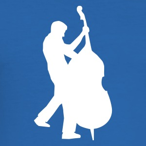Royalblau bass player - kontrabass T-Shirts (Kurzarm) - Männer Slim Fit T-Shirt