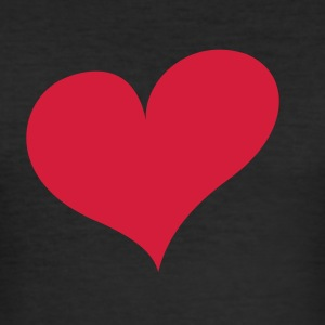 Zwart Heart T-shirts - slim fit T-shirt