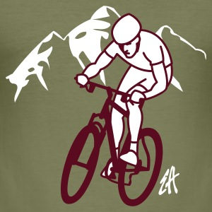 Mountainbike - Slim Fit T-shirt herr