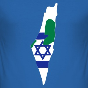Sky blue Israel - Palestine T-shirts - slim fit T-shirt