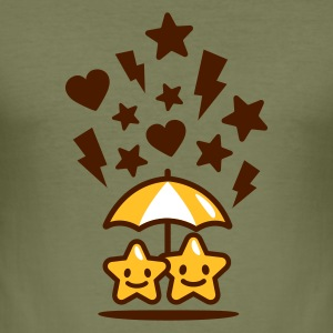 Camel stars in love schirm T-Shirts - Männer Slim Fit T-Shirt