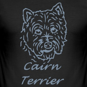 Black cairnterrier_02 Men's Tees - Men's Slim Fit T-Shirt