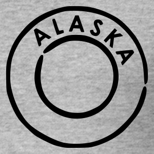 Blended grey Alaska Men's Tees - Men's Slim Fit T-Shirt