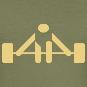 Camel weight_lifting_01 Men's Tees - Men's Slim Fit T-Shirt
