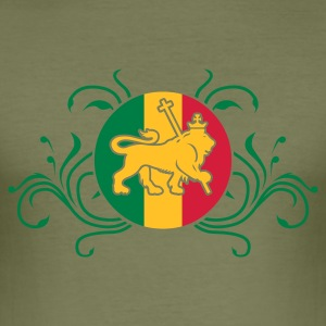 Camel lion_of_judah_jamaica_v2_3c Men's Tees - Men's Slim Fit T-Shirt