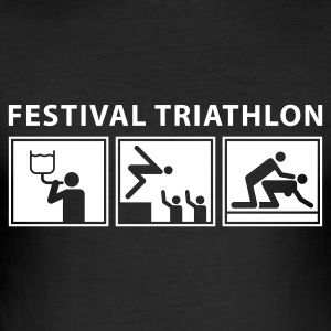 festival_triathlon_b T-Shirts - Men's Slim Fit T-Shirt
