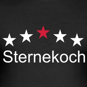 Shirt Sternekoch - Männer Slim Fit T-Shirt