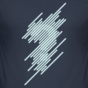 Dark navy Optical Illusion Questionmark T-shirts - slim fit T-shirt