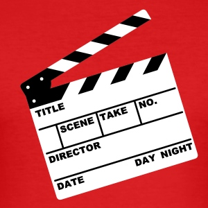 clapperboard (writable flex) - Men's Slim Fit T-Shirt