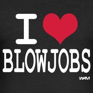 Noir I love blowjobs by wam T-shirts - Tee shirt près du corps Homme