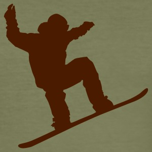 Snowboarder - Herre Slim Fit T-Shirt