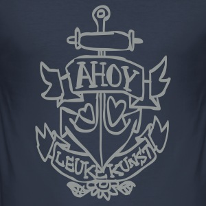 Dark navy Ahoy! T-shirts - slim fit T-shirt