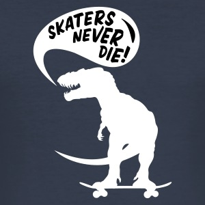 Navy t-rex skater Men's Tees - Men's Slim Fit T-Shirt