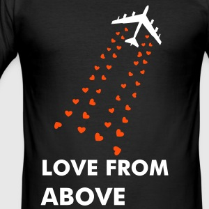 Love from Above - Männer Slim Fit T-Shirt