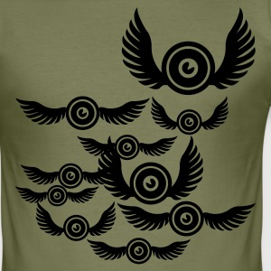 Olive sound bird T-Shirts - Männer Slim Fit T-Shirt