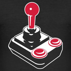 Joystick on black - Männer Slim Fit T-Shirt