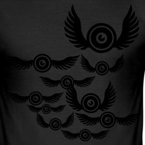Eigelb sound bird T-Shirts - Männer Slim Fit T-Shirt