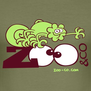 Camel Zooco Chameleon Men's Tees - Men's Slim Fit T-Shirt