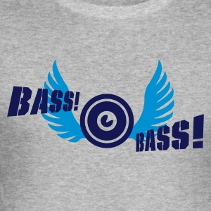 Grau meliert bass bird T-Shirts - Männer Slim Fit T-Shirt