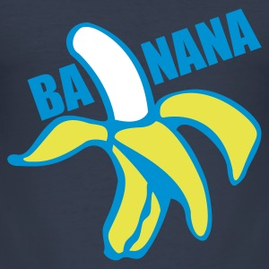 Banana - men blue - Männer Slim Fit T-Shirt