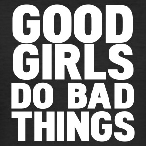Noir good girls do bad things T-shirts - Tee shirt près du corps Homme