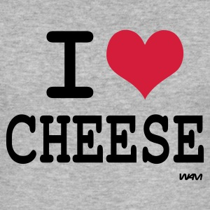Gris chiné I love cheese by wam T-shirts - Tee shirt près du corps Homme
