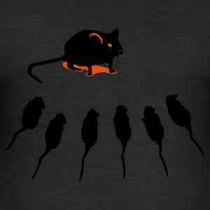 Eigeel muis / mouse (2c) T-shirts - slim fit T-shirt