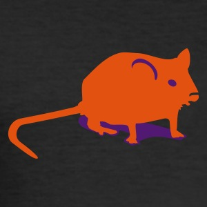äggul Mus / mouse (2c) T-shirts - Slim Fit T-shirt herr