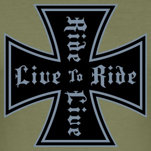 Brown live to ride T-Shirt - Maglietta aderente da uomo
