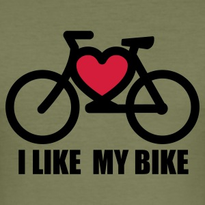 Olive i ike my bike T-Shirts - Männer Slim Fit T-Shirt