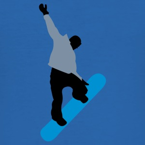 Sky blue snowboarder_king Men's Tees - Men's Slim Fit T-Shirt