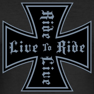 Black live to ride T-Shirt - Herre Slim Fit T-Shirt