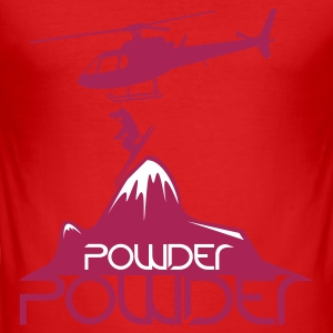 Wine Powder T-Shirts - Männer Slim Fit T-Shirt