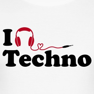 (Slim) I Listen to (Love) Techno - Männer Slim Fit T-Shirt