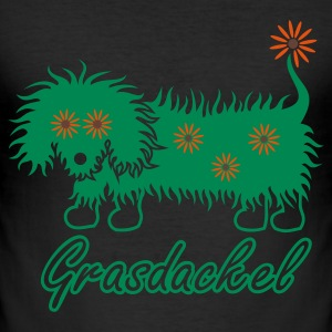 Eigelb grasdackel 4 T-Shirts - Männer Slim Fit T-Shirt