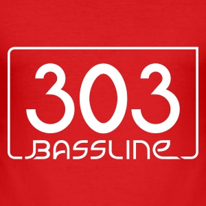 Dark orange 303 Bassline T-Shirts - Männer Slim Fit T-Shirt