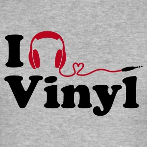 (Slim) I Listen to (Love) Vinyl - Männer Slim Fit T-Shirt