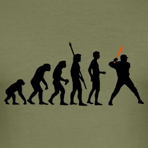 Khaki green evolution_baseball_2c T-Shirts - Männer Slim Fit T-Shirt