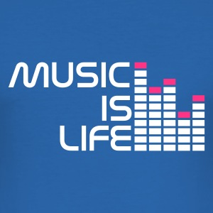 Blu royal music is life equalizer r IT T-shirt - Maglietta aderente da uomo