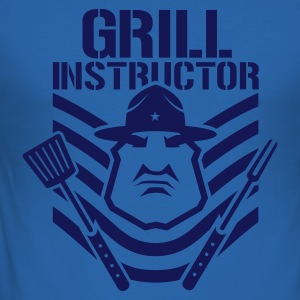 Sky blue ::GRILL INSTRUCTOR B:: T-Shirts - Männer Slim Fit T-Shirt