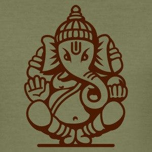 Olive Ganesha Elefant (elephant) No.04.2_1c T-Shirts - Männer Slim Fit T-Shirt