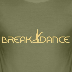 Braun Breakdance T-Shirts - Männer Slim Fit T-Shirt