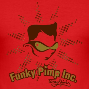 Dark orange THE FUNKY PIMP INC. by toneyshirts T-Shirts - Männer Slim Fit T-Shirt