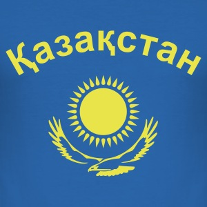 Royalblau Kasachstan T-Shirts - Männer Slim Fit T-Shirt