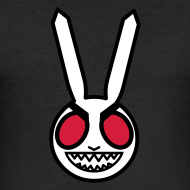 Design ~ Evil Bunny: Men's Fitted Tee