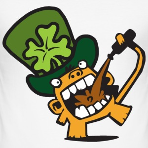 White Beer Monkey St. Patricks Day Celebrations. Men's Tees - Men's Slim Fit T-Shirt